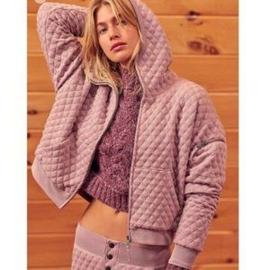 Free People movement hibernation quilted hoodie